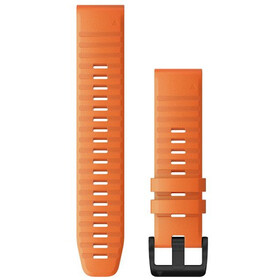 Garmin QuickFit Bracelet de montre en silicone 22mm pour Fenix 6, orange